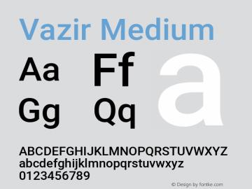 Vazir Medium Version 27.2.0图片样张