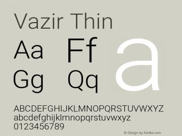 Vazir Thin Version 27.2.0图片样张