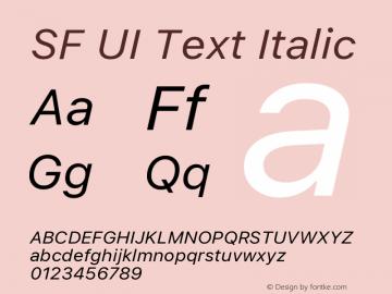 SF UI Text Italic 11.0d45e1--BETA图片样张