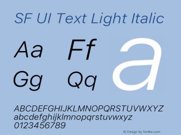 SF UI Text Light Italic 11.0d45e1--BETA图片样张