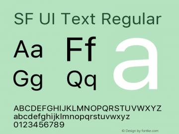 SF UI Text Regular 11.0d45e1--BETA图片样张