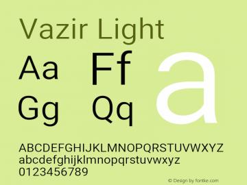 Vazir Light Version 27.2.1图片样张