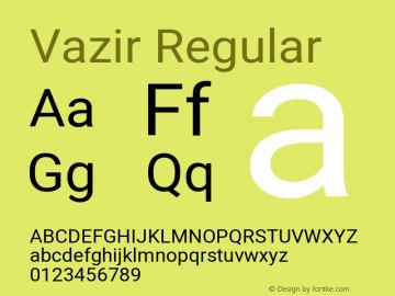 Vazir Regular Version 27.2.1图片样张