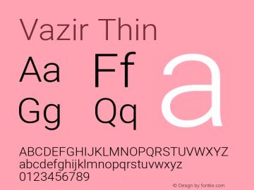 Vazir Thin Version 27.2.1图片样张