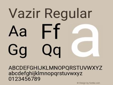 Vazir Regular Version 27.2.2图片样张