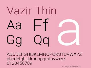 Vazir Thin Version 27.2.2图片样张