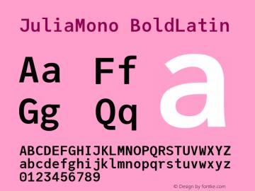 JuliaMono BoldLatin Version 0.033; ttfautohint (v1.8)图片样张