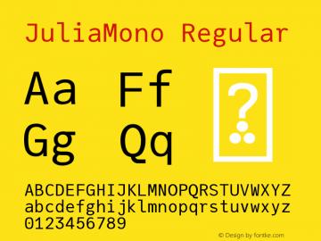 JuliaMono Regular Version 0.033; ttfautohint (v1.8)图片样张
