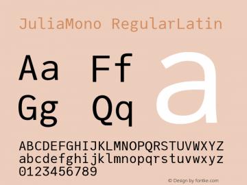 JuliaMono RegularLatin Version 0.033; ttfautohint (v1.8)图片样张
