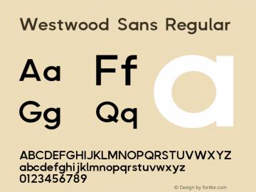 Westwood Sans Regular Version 1.004图片样张