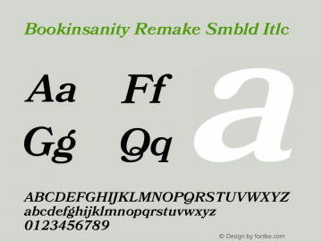 Bookinsanity Remake Smbld Itlc Version 1.002;Fontself Maker 2.0.4图片样张