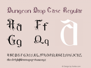 Dungeon Drop Case Version 1.003;Fontself Maker 2.0.4图片样张