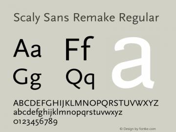 Scaly Sans Remake Version 1.003;Fontself Maker 2.0.4图片样张