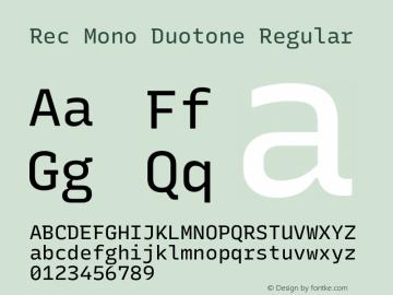 Rec Mono Duotone Version 1.074图片样张
