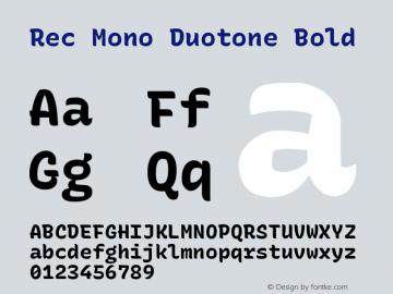 Rec Mono Duotone Bold Version 1.074图片样张