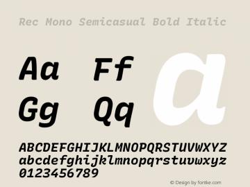 Rec Mono Semicasual Bold Italic Version 1.074图片样张