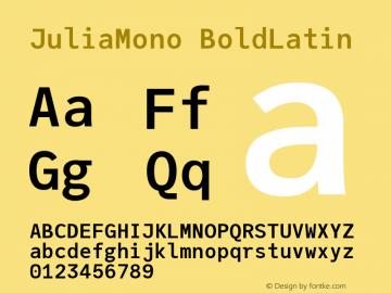 JuliaMono BoldLatin Version 0.034; ttfautohint (v1.8)图片样张