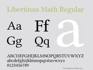 Libertinus Math Regular Version 7.040;RELEASE图片样张