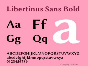 Libertinus Sans Bold Version 7.040;RELEASE图片样张