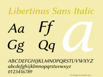 Libertinus Sans Italic Version 7.040;RELEASE图片样张