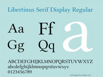 Libertinus Serif Display Regular Version 7.040;RELEASE图片样张