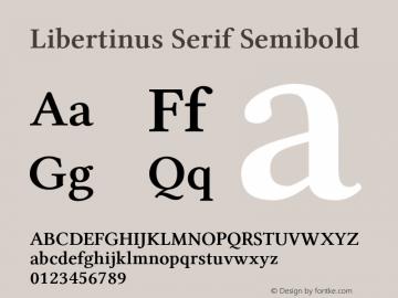 Libertinus Serif Semibold Version 7.040;RELEASE图片样张