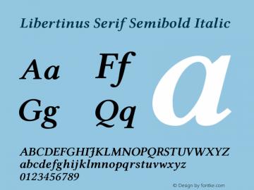 Libertinus Serif Semibold Italic Version 7.040;RELEASE图片样张