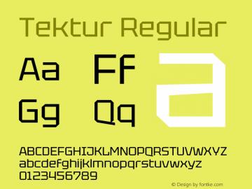 Tektur Regular Version 1.001图片样张