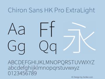 Chiron Sans HK Pro ExtraLt Version 1.000;hotconv 1.0.109;makeotfexe 2.5.65596图片样张