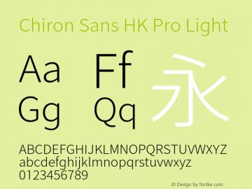 Chiron Sans HK Pro Light Version 1.000;hotconv 1.0.109;makeotfexe 2.5.65596图片样张
