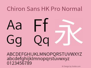 Chiron Sans HK Pro Normal Version 1.000;hotconv 1.0.109;makeotfexe 2.5.65596图片样张