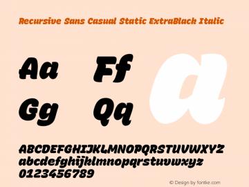 Recursive Sn Csl St XBk Italic Version 1.075;hotconv 1.0.112;makeotfexe 2.5.65598图片样张