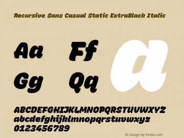 Recursive Sn Csl St XBk Italic Version 1.075;hotconv 1.0.112;makeotfexe 2.5.65598; ttfautohint (v1.8.3)图片样张