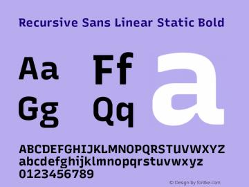 Recursive Sn Lnr St Bold Version 1.075;hotconv 1.0.112;makeotfexe 2.5.65598图片样张