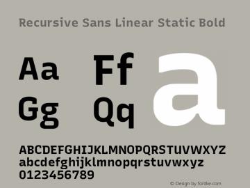 Recursive Sn Lnr St Bold Version 1.075;hotconv 1.0.112;makeotfexe 2.5.65598; ttfautohint (v1.8.3)图片样张