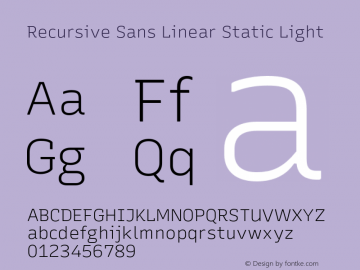 Recursive Sn Lnr St Lt Version 1.075;hotconv 1.0.112;makeotfexe 2.5.65598图片样张
