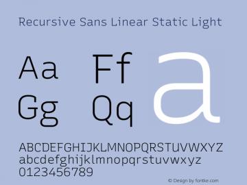 Recursive Sn Lnr St Lt Version 1.075;hotconv 1.0.112;makeotfexe 2.5.65598; ttfautohint (v1.8.3)图片样张