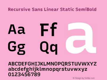 Recursive Sn Lnr St SmB Version 1.075;hotconv 1.0.112;makeotfexe 2.5.65598; ttfautohint (v1.8.3)图片样张
