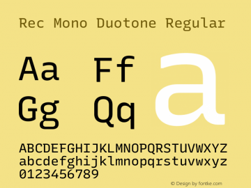 Rec Mono Duotone Version 1.075图片样张