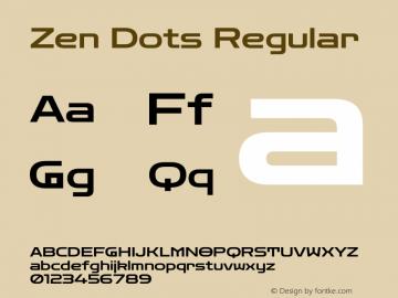 Zen Dots Regular Version 1.000图片样张