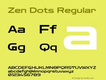 Zen Dots Regular Version 1.000; ttfautohint (v1.8.3)图片样张