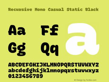 Recursive Mn Csl St Blk Version 1.077;hotconv 1.0.112;makeotfexe 2.5.65598; ttfautohint (v1.8.3)图片样张