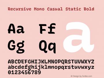 Recursive Mn Csl St Bold Version 1.077;hotconv 1.0.112;makeotfexe 2.5.65598图片样张