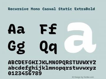 Recursive Mn Csl St XBd Version 1.077;hotconv 1.0.112;makeotfexe 2.5.65598; ttfautohint (v1.8.3)图片样张