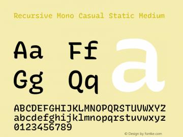 Recursive Mn Csl St Med Version 1.077;hotconv 1.0.112;makeotfexe 2.5.65598图片样张