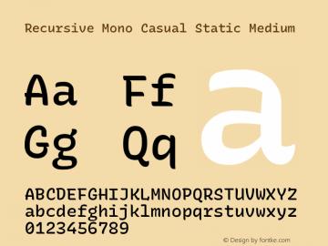Recursive Mn Csl St Med Version 1.077;hotconv 1.0.112;makeotfexe 2.5.65598; ttfautohint (v1.8.3)图片样张
