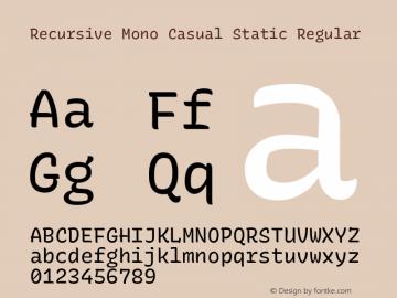 Recursive Mn Csl St Version 1.077;hotconv 1.0.112;makeotfexe 2.5.65598图片样张