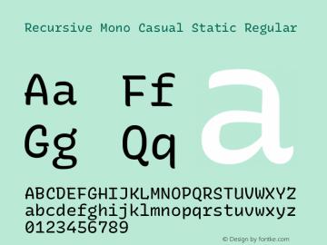 Recursive Mn Csl St Version 1.077;hotconv 1.0.112;makeotfexe 2.5.65598; ttfautohint (v1.8.3)图片样张