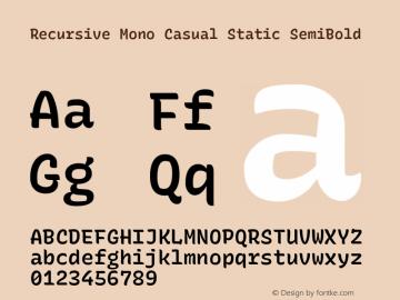 Recursive Mn Csl St SmB Version 1.077;hotconv 1.0.112;makeotfexe 2.5.65598图片样张
