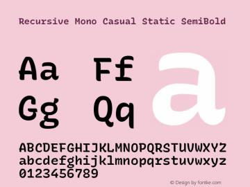 Recursive Mn Csl St SmB Version 1.077;hotconv 1.0.112;makeotfexe 2.5.65598; ttfautohint (v1.8.3)图片样张